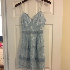 ASOS blue lace dress